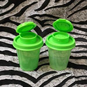 *New* Tupperware Mini Salt n Pepper Shaker Green